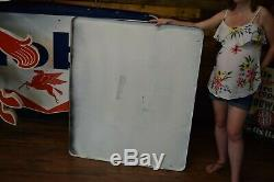 VERY RARE Mint Porcelain 7UP soda Pop sign BIG General store Gas Station Advert
