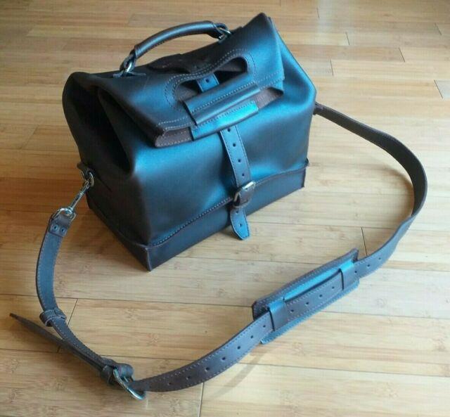 Very Rare Saddleback Leather Medium Duffle Bag / Waterbag Mint Condition (b-04)