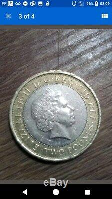 Very RARE £2 Abolition Of The Slave Trade 1807 2007 Minting Error Two Pound Coin