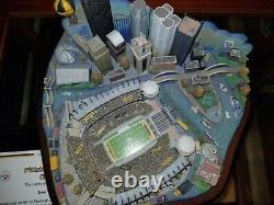 Very RARE Game Day Danbury Mint Pittsburgh Steelers Stadium 3D City Skyline