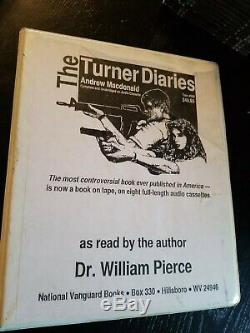 Very RARE Turner Diaries On Cassette Tape Original Andrew MacDonald Lot NA