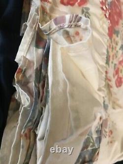 Very RARE! VTG Ralph Lauren Dylan's Grove Ruffled Top Full Flat Sheet Near Mint