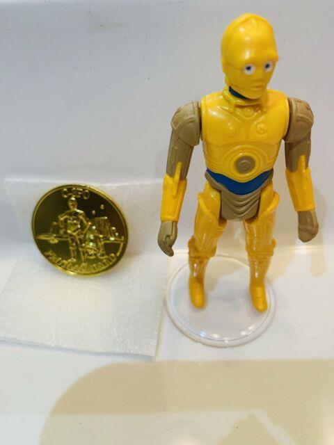 Very Rare 1985 C-3po With Protocol Coin Droids Tv Series Kenner Star Wars Mint
