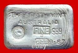 Very Rare 9.67oz 999 Australian Perth Mint Fine Silver Bullion Bar No 6371