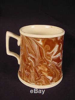 Very Rare Agate Mug Agateware Mocha Ware Pearlware Staffordshire Mint