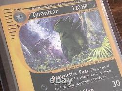 Very Rare Aquapolis Tyranitar Holo H28/H32 E Reader WOTC Pokemon Card Near Mint