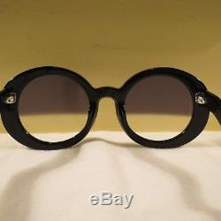 Very Rare Authentic Vintage Chanel Black Half Tinted Sunglasses S5018 Mint Cond
