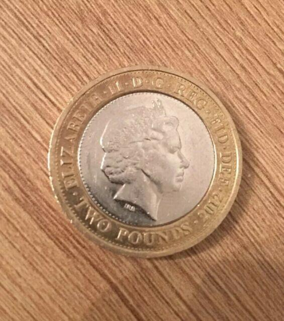 Very Rare Charles Dickens 2012 £2 Two Pound Coin With Royal Double Mint Error