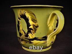 Very Rare Cup & Saucer Cable & Cats Eye Mocha Ware Mochaware Staffordshire Mint