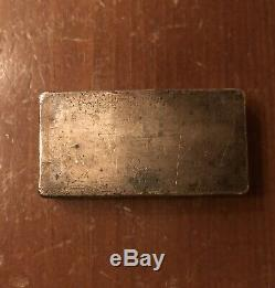 Very Rare Engelhard 10oz Trailing -1 Lo Mint Deep Brown Waterfal Pour Silver Bar