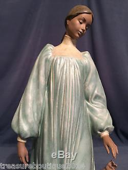 Very Rare & Large 15.25 Lladro Loving Steps Mother & Child (2452 Mint) Gres