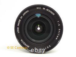 Very Rare Minolta MD MC W Rokkor 17mm F4 Ultra Wide Lens Mint Condition