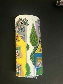 Very Rare Mint Condition Vintage Rosenthal Oval Vase Signed by Bjorn Wiinblad