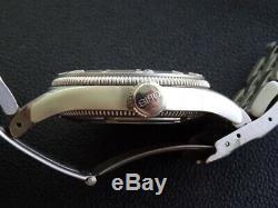 Very Rare Mint Men Oris Regulator 7502 Sapphire Black Dial Date Box