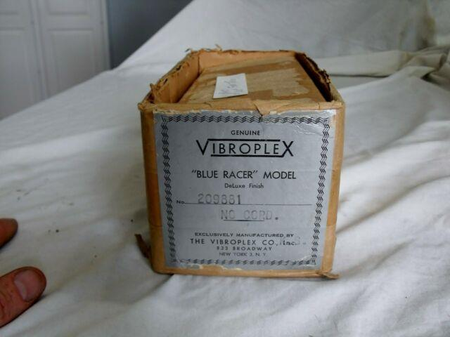 Very Rare Mint Vibroplex Blue Racer Deluxe Red/chrome Morse Code Key In Box