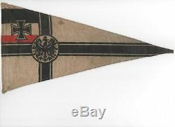 Very Rare Original Mint Condition WWI German Empire Navy Flag Pennant 6x11.25