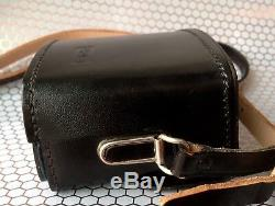 Very Rare Original Near Mint Rollei 35 Hard Leather Case With Straps & Lens Guard