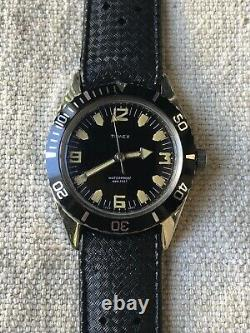 Very Rare Vintage 1966 Timex 600ft Diver, All Stainless Steel, Mint-y