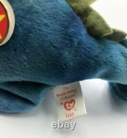 Very Rare Vintage Ty Beanie Babies Iggy The Iguana Mint Condition