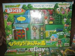 Very Rare lot of ANIMAL CROSSING Figure Playset House Pete Takara Nintendo 2001