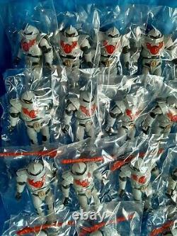 Very rare lot vintage 56 motu horde trooper Masters of the Universe 17 complete