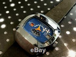 Vintage Hudson Jump Hour Men's Automatic Wristwatch very rare Works mint dial