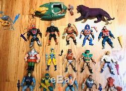 Vintage Original 80's HE-MAN Mattel 25 Action Figures Lot VERY RARE FIGURES MOTU