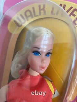 Vintage Walk Lively Barbie1972 Very Rare NRFB MINT Flawless