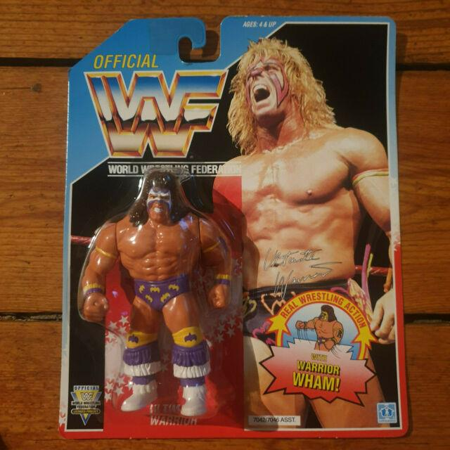 Wwf Hasbro Ultimate Warrior #3 Us Card Moc Very Rare Mint Wrestling Figure Wwe