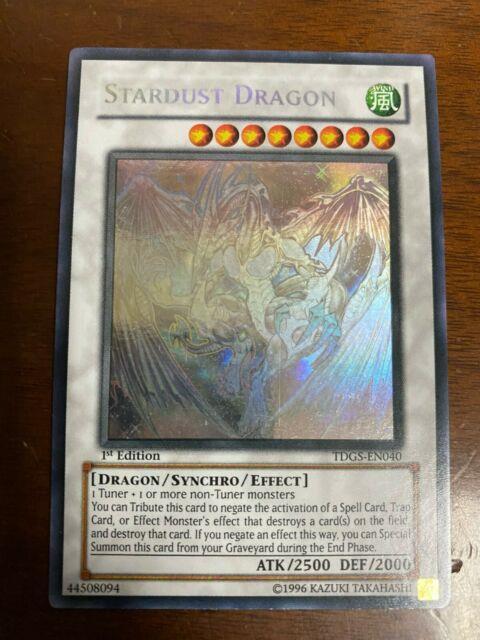 Yugioh Stardust Dragon Tdgs-en040 1st Ed Ghost Rare Very Light Play/near Mint