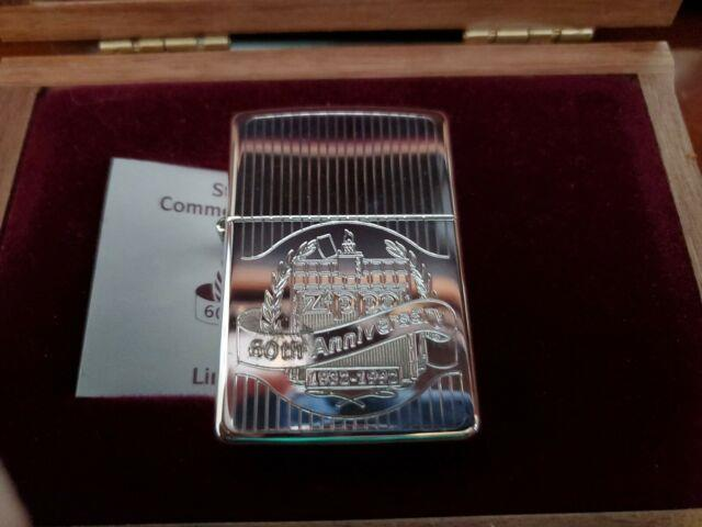 Zippo Sterling Silver Employee 60 Th Anniversary Mint Very Rare